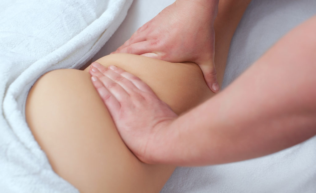 Using Gentle repetive strokes lymphatic massage helps the body eliminate waste
