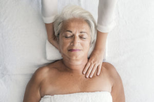 Seniors massage therapy helps with active aging